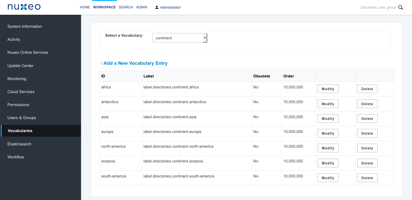 Admin Tab Overview | Nuxeo Documentation