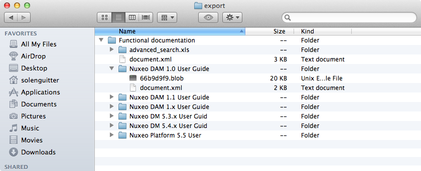 Exporting Documents | Nuxeo Documentation