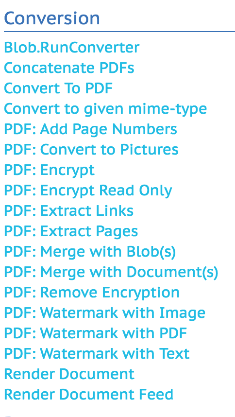 HOWTO: Use PDF conversion operations with Nuxeo Studio