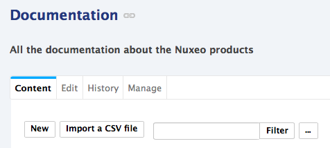 Nuxeo CSV | Nuxeo Documentation