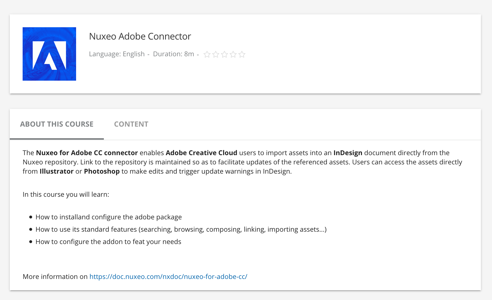 Nuxeo for Adobe CC | Nuxeo Documentation