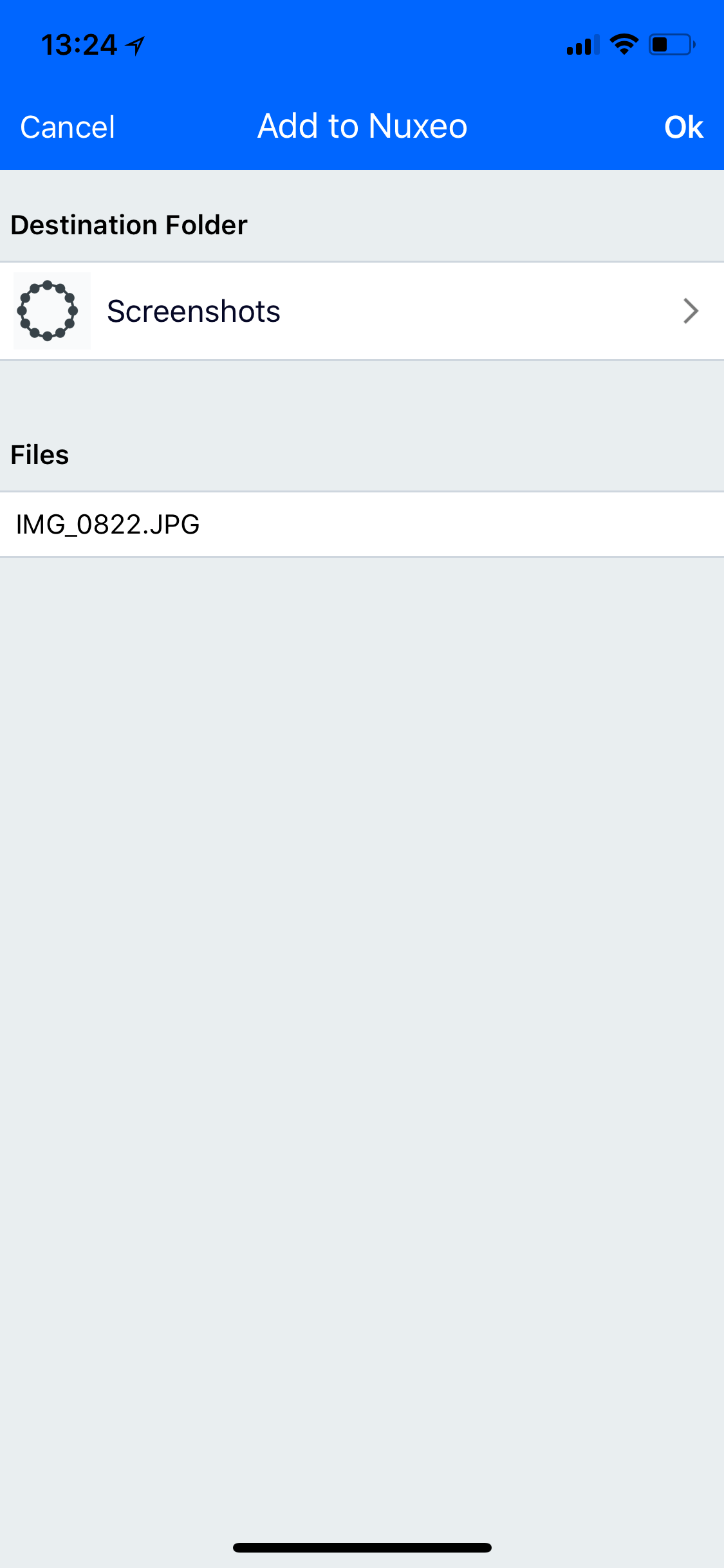 Mobile Capture Folder Done