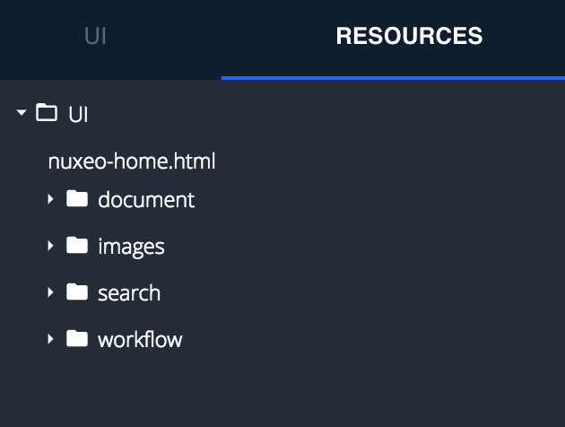 Resources Tab View Designer