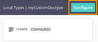 Configure Doc Type