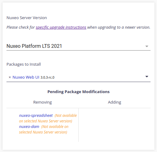 Package removal in Studio's Application Definition