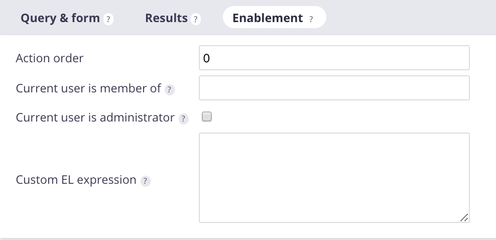 Content View Enablement tab